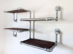 Image result for pipe shelf