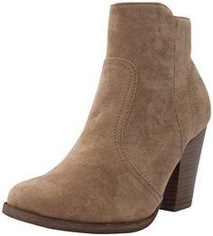 Breckelle's Women's Dorado-11 Western Ankle Boot Beige 6