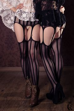 Steampunk tights stripped leggins burlesque circus panty stockings