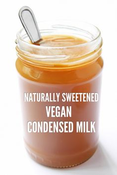 This homemade sweetened condensed milk is vegan + uses no refined sugar. Coconut milk + coconut sugar make a dairy free, naturally sweetened treat.