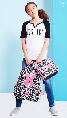Initial Cheetah Print Backpack and Lunch Tote | Justice