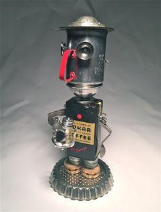 A Little Mo Joe - Assemblage Art Coffee Serving Robot Sculpture