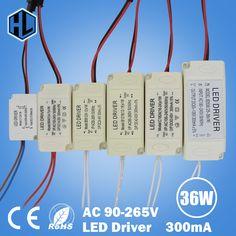 1-3 W 4-7 W 8-12 W 12-18 W 18-24 W 25-36 W Plastik Shell LED lampu driver transformer power supply adapter untuk led chip bulb spotlight