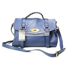 6221ceac1b Mulberry Women s Standard Alexa Leather Satchel Bag Blue Mulberry Outlet