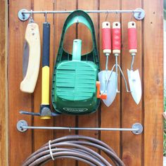 These tool organization ideas and outdoor organization ideas will help you keep all your garden and yard tools organized, clean, and easy to find.