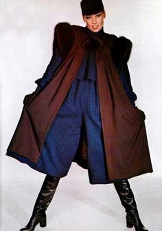 Givenchy cape,  l'officiel magazine 1977
