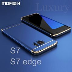 For Samsung edge case for Samsung case MOFi back cover hard coque for galaxy  edge cover capa funda luxury gold blue This is an AliExpress affiliate pin. 651aee919177
