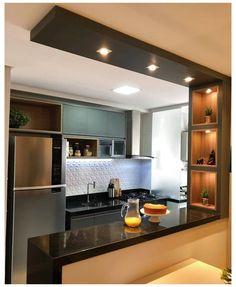 Kitchen Bar Design, Home Decor Kitchen, Interior Design Kitchen, Kitchen Ideas, Kitchen Modular, Contemporary Kitchen Design, Modern Contemporary, Home Room Design, Cuisines Design