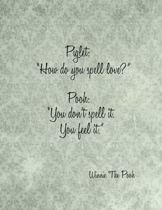 WINNIE THE POOH Saying How Do You Spell Love