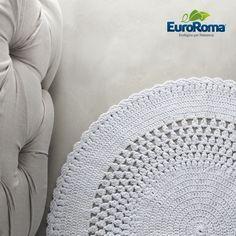 Tecendo Artes em Crochet: Tapete Lindo em Barbante!