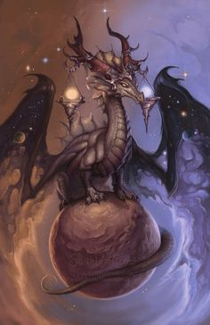 ✯ Zodiac Dragon..Libra .. by =The-SixthLeafClover✯