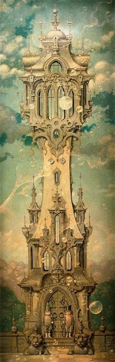 """Tower Guard"" ~ Daniel Merriam ~ Watercolorist Extraordinaire ~ Miks' Pics ""Daniel Merriam l"" board @ http://www.pinterest.com/msmgish/daniel-merriam-l/"