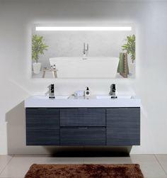 "KARLA 30""x60"" LED Mirror. #bathroom #bathroomdesign #bathroomdecor #bathroomremodel #bathroomrenovation #bathtubs #kitchen #kitchendesign #kitchendecor #kitchenremodel #kitchenrenovation #vanities #mirrors #shower #interior #interiordesign #interiordecor #homeimprovement #remodel #renovation Interior Stairs, Interior Trim, Interior Paint, Living Room Interior, Kitchen Interior, Interior Design, Led Mirror, Mirror Bathroom, Mirrors"