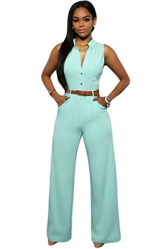 Jumpsuit Long Pants Women Rompers Sleeveless 2XL V-neck 2016 Belt Solid Sexy Night Club Elegant Slim Jumpsuits Overalls