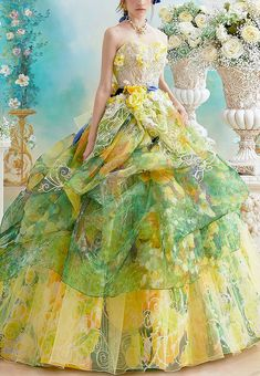 Fashion Show Dresses, Dressy Attire, Glass Slipper, Bridal, Couture Collection, Shades Of Green, Frocks, Ball Gowns, Fancy