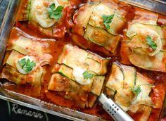Courgette pakketjes met kip | Kookmutsjes Feel Good Food, Fresh Rolls, Low Carb Recipes, Tapas, Zucchini, Foodies, Food Photography, Clean Eating, Yummy Food