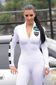 White Latex Catsuit worn By Kim Kardashian. Click Here To Buy your Catsuits from DCUK.