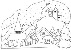 snowy free winter coloring pages