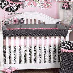 Girly - Front Rail Crib Wrap