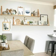 "Interior Motives Aus on Instagram: ""Check out the shelving in the dining room of @thetimbatrend Create this look with our Leather Strap Sets available on our website! #interiormotivesaus #interiorstyling ##leatherstrapshelf #leathershelf #diningroom #shelf"""