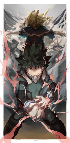 Boku no Hero Academia    All Might, Midoriya Izuku.