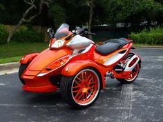 Orange Can Am    Ridewright Wheels #47