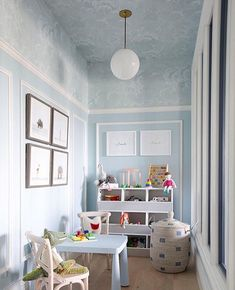 Before you begin thinking of ideas for decorating playroom, do not neglect to ask your kid's opinion. The playroom may also be utilized for studying also. Therefore, if you would like to create a playroom for your children, here are… Continue Reading → Playroom Design, Playroom Decor, Kids Decor, Blue Playroom, Playroom Ideas, Playroom Table, Kid Playroom, Wall Decor, Wall Design
