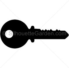Key silhouette clip art. Download free versions of the image in EPS, JPG, PDF, PNG, and SVG formats at http://silhouettegarden.com/download/key-silhouette/