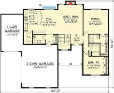 Adorable Craftsman Ranch - 89654AH   1st Floor Master Suite, CAD Available, Corner Lot, Craftsman, Northwest, PDF   Architectural Designs