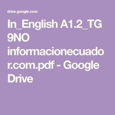 In_English A1.2_TG 9NO informacionecuador.com.pdf - Google Drive Google Drive, Pdf, English, Costa, Libros, English Language, England