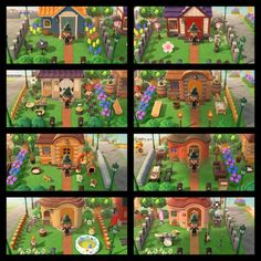 Animal Crossing Guide, Animal Crossing Villagers, Nintendo Switch Animal Crossing, Home Ac, Island Design, Yard Design, House Layouts, New Leaf, Decoration