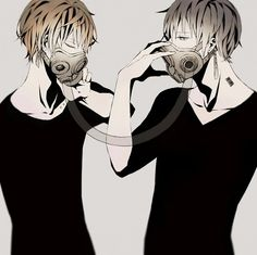 Continuing off from our Spotlight featuring girls wearing gas masks, here are some gas mask wearing guys! These gas mask. Sad Anime, Manga Anime, Anime Art, Manhwa Manga, Handsome Anime Guys, Hot Anime Guys, Anime Style, Gas Mask Art, Gas Masks