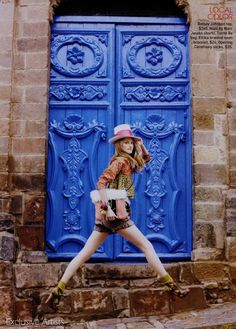 """The Terrier and Lobster: """"World Traveler"""": Jessica Cline in Peru by Arthur Elgort for Teen Vogue"""