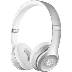 Beats by Dr. Dre Solo2 Wireless On-Ear Headphones (Silver) Headphones Online, Cute Headphones, Bluetooth Headphones, Over Ear Headphones, Beats Earbuds, Beats By Dre, Leica, Phone Accessories, Electronics Accessories