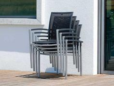 Stern Gartensessel Lazy Aluminium graphit Textil schwarz Aluminiumarmlehnen kaufen im borono Online Shop