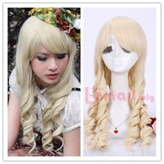 Cheap wigging out wigs, Buy Quality free wig magazines directly from China wig long Suppliers: Free Shipping 65cm Synthetic Hair Purple Blue Blonde  Long Curly Cosplay WigUS $ 18.99/pieceFree Shipping With Oblique B