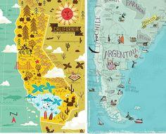 Mapas bonitos para empezar bien la semana Site Analysis, Diagram, California, World, Travel, Maps, Bucket, Canada, Uruguay
