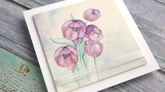 LAYERS OF TRANSPARENT WATERCOLOR – Watercoloring Tulips from WPlus9 | kwernerdesign blog | Bloglovin'