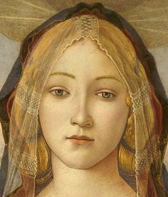 Sandro Botticelli : The Virgin and Child with Saint John and an Angel (1490, detail)
