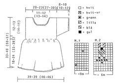 """DROPS Jurk met korte mouwen en bloemenmotief en gehaakte randen van """"Safran"""". Maat 3 tot 24 maanden. ~ DROPS Design"""