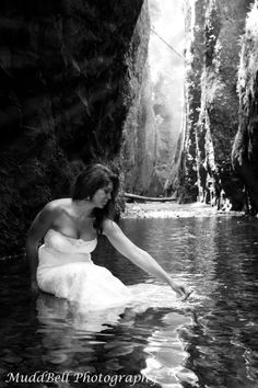Trash the Dress! Find a spot you absolutely love, and get some great pics when you don't care what happens to the dress...great honeymoon idea (if you go to a stunning location)