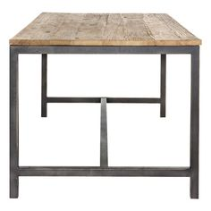 Wharf Dining Table 180x90cm Recycled Elm Natural/Black
