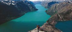 Jotunheimen National Park, great view on Norwegian fjord.