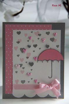 Bridal shower cards umbrella Ideas for 2019 Umbrella Cards, Rain Umbrella, Tarjetas Diy, Bridal Shower Cards, Baby Girl Cards, Valentine Day Cards, Valentine Ideas, Greeting Cards Handmade, Baby Shower Cards Handmade