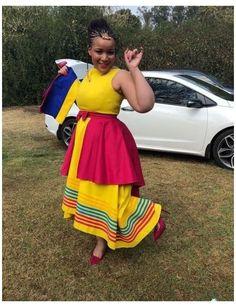 Pedi Traditional Attire, Sepedi Traditional Dresses, South African Traditional Dresses, African Traditional Wedding, Traditional Styles, Xhosa Attire, African Attire, African Dress, African Clothes