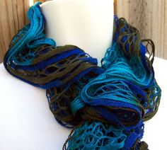 Endless Ruffle Infinity Scarf by Kitty Grrlz HandSpun Yarn & Knits - click through to see what I have available in my etsy store (www.etsy.com/...).  In Madison, Wisconsin?  Come to the Ritz Crafters show Saturday, February 18 to see more!  ritzcrafters.com