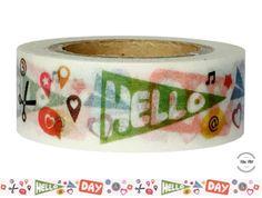 Masking Tape - Washi Tape HELLO DAY - ein Designerstück von Fitzi-Floet bei DaWanda
