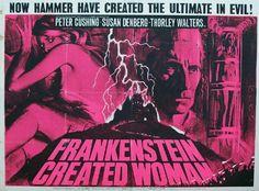 Hammer Films Movie Posters | Hammer Horror Films Frankenstein Created Woman
