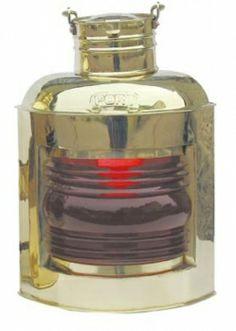 Grand bateau Lampe-Bateau Lampe-Signal Lampe-H 30 cm-Pétrole-verre rouge Energy Suppliers, Messing, Flask, Lanterns, Barware, Perfume Bottles, Positivity, Lights, Glas