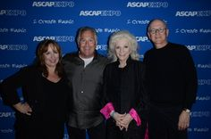 """Performers at the """"I Create Music"""" Center Stage Gretchen Peters, John Lind, Judy Collins and Randy Goodrum"""